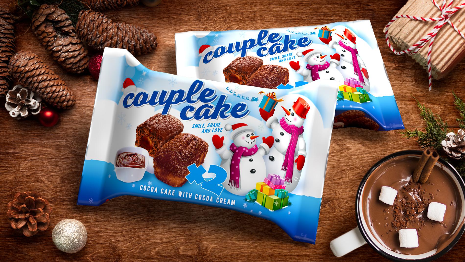 Couple cake Christmass edition